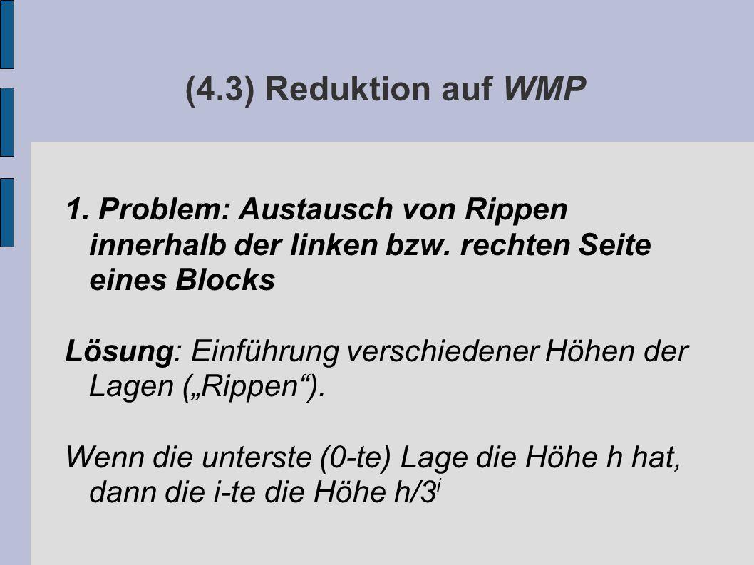 (4.3) Reduktion auf WMP 1. Problem: Austausch von Rippen innerhalb der linken bzw.
