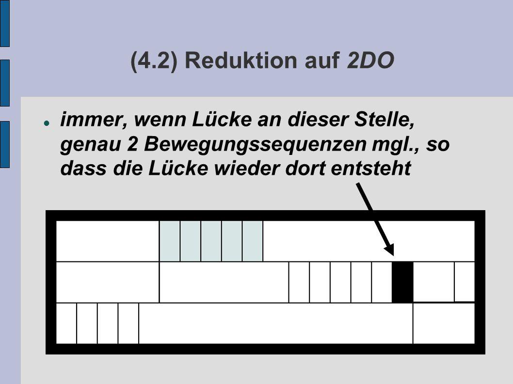 (4.2) Reduktion auf 2DO immer, wenn Lücke an dieser Stelle, genau 2 Bewegungssequenzen mgl., so dass die Lücke wieder dort entsteht