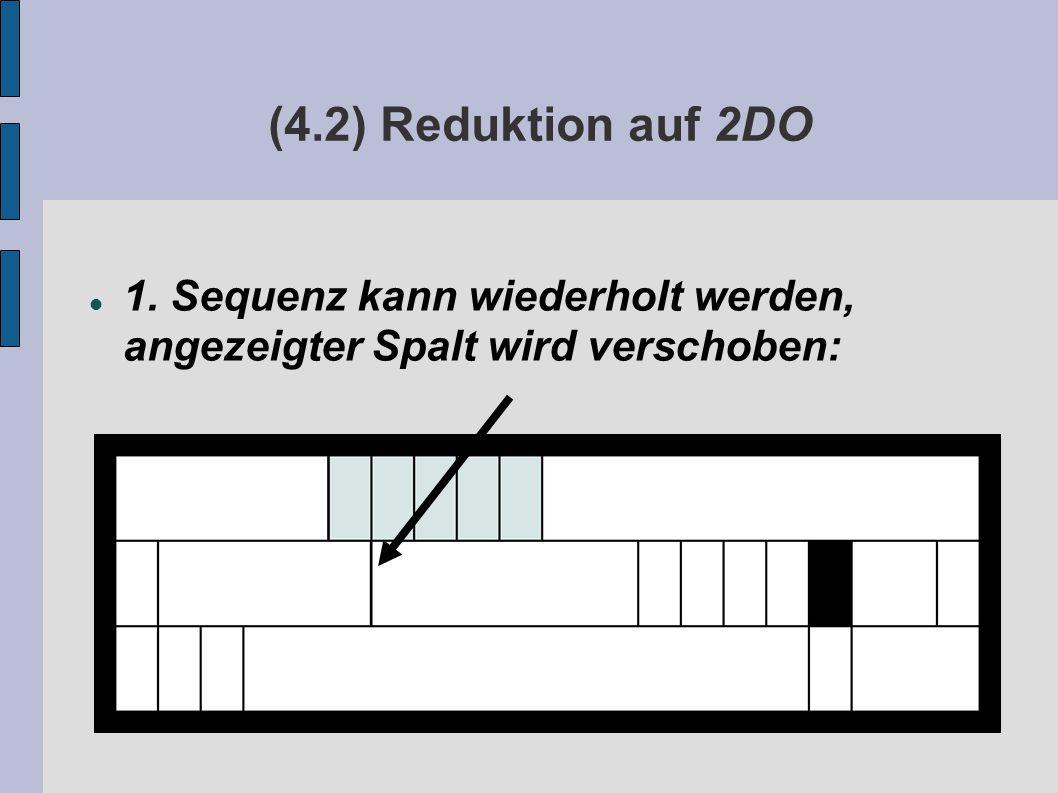(4.2) Reduktion auf 2DO 1. Sequenz kann wiederholt werden, angezeigter Spalt wird verschoben: