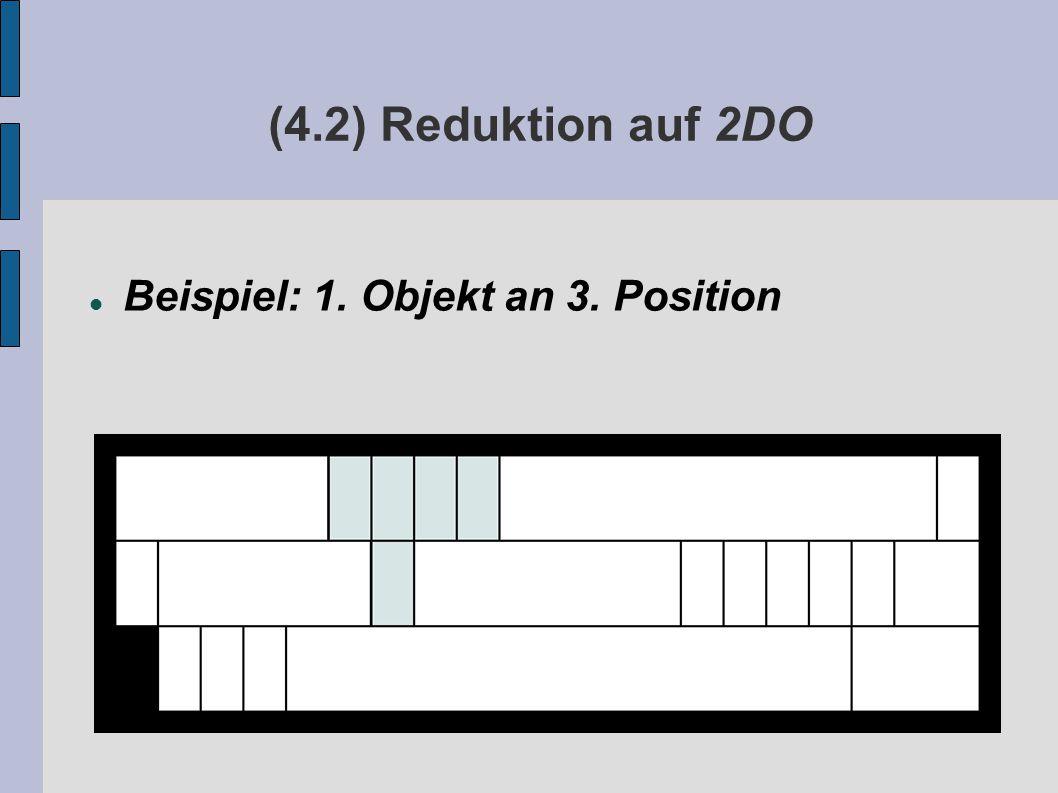 (4.2) Reduktion auf 2DO Beispiel: 1. Objekt an 3. Position