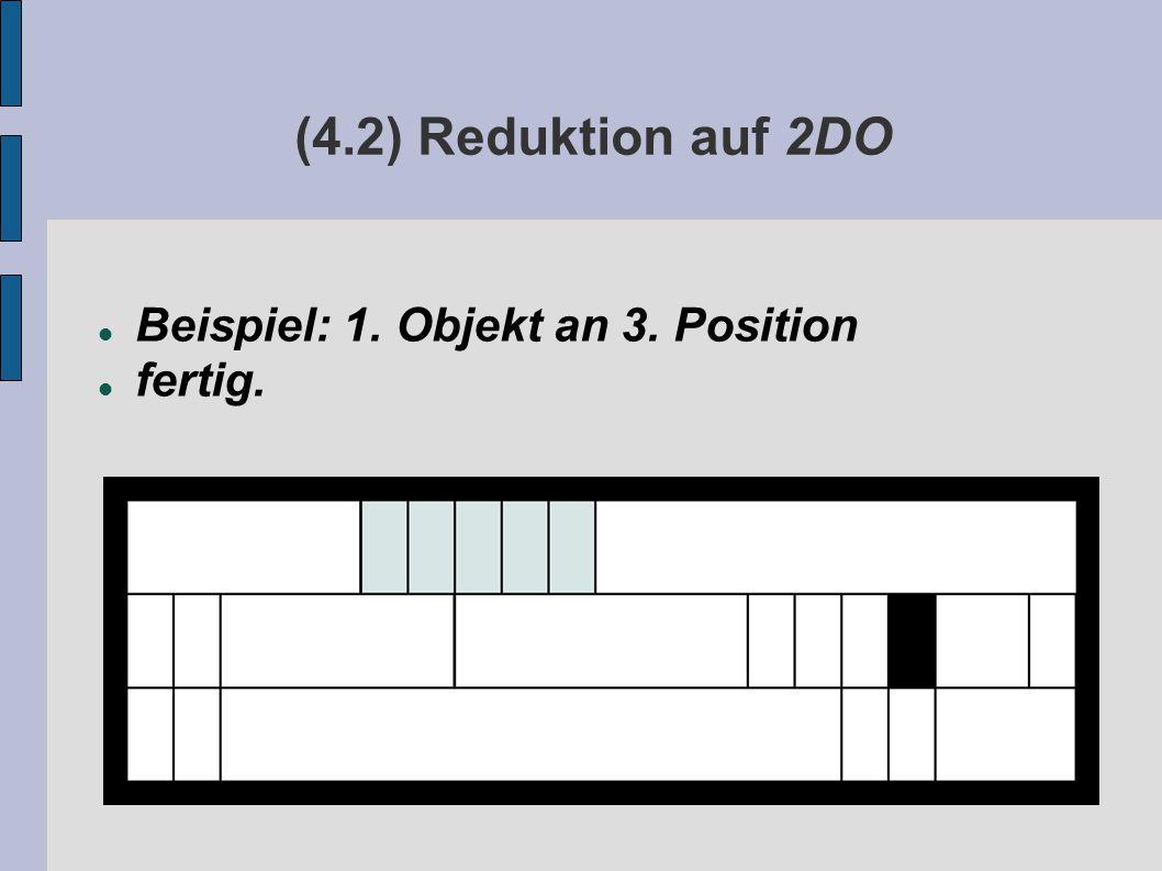 (4.2) Reduktion auf 2DO Beispiel: 1. Objekt an 3. Position fertig.