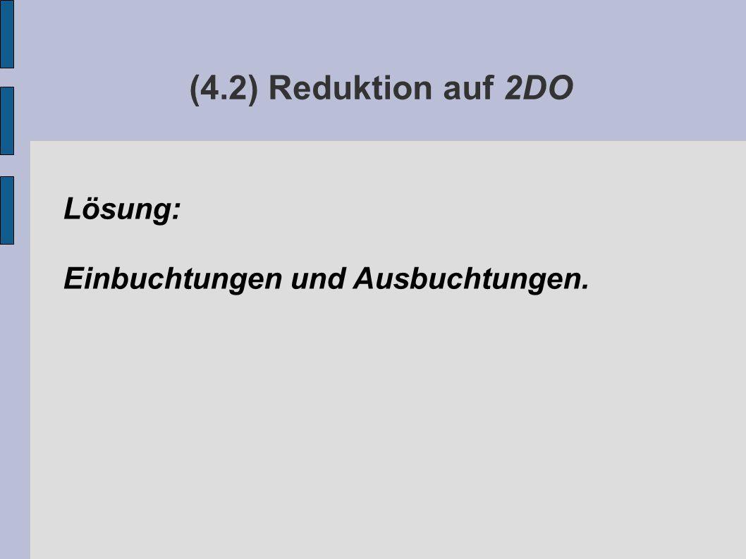 (4.2) Reduktion auf 2DO Lösung: Einbuchtungen und Ausbuchtungen.