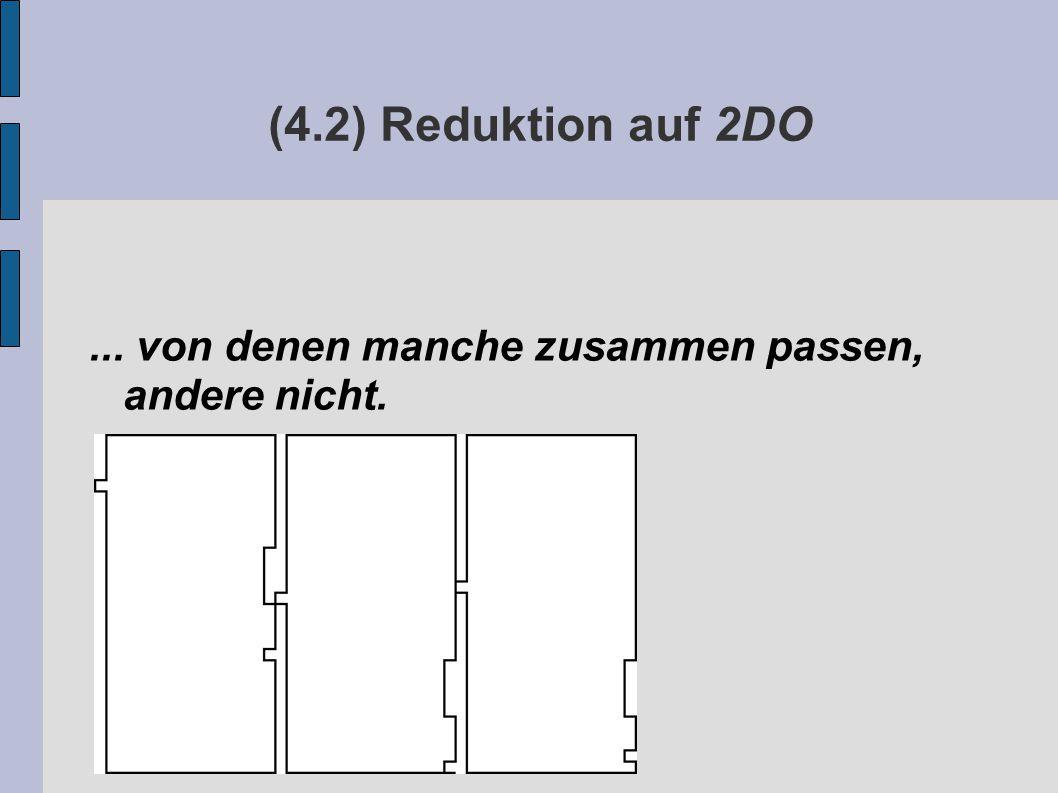 (4.2) Reduktion auf 2DO... von denen manche zusammen passen, andere nicht.