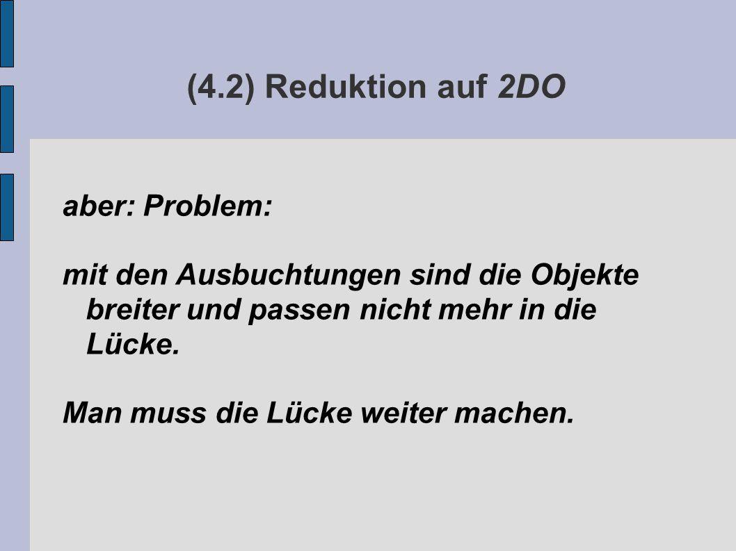 (4.2) Reduktion auf 2DO aber: Problem: mit den Ausbuchtungen sind die Objekte breiter und passen nicht mehr in die Lücke.