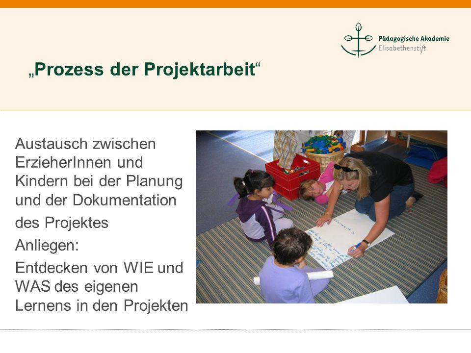Neuseeländische Kindertageseinrichtung Austausch zwischen ErzieherInnen und Kindern bei der Planung und der Dokumentation des Projektes Anliegen: Entd