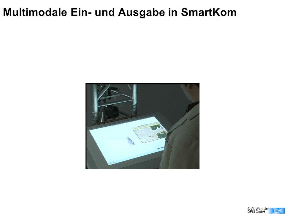 © W. Wahlster DFKI GmbH Multimodale Ein- und Ausgabe in SmartKom Da würd' ich gern reservieren. Eine Reservierung ist in diesem Kino nicht möglich. Da