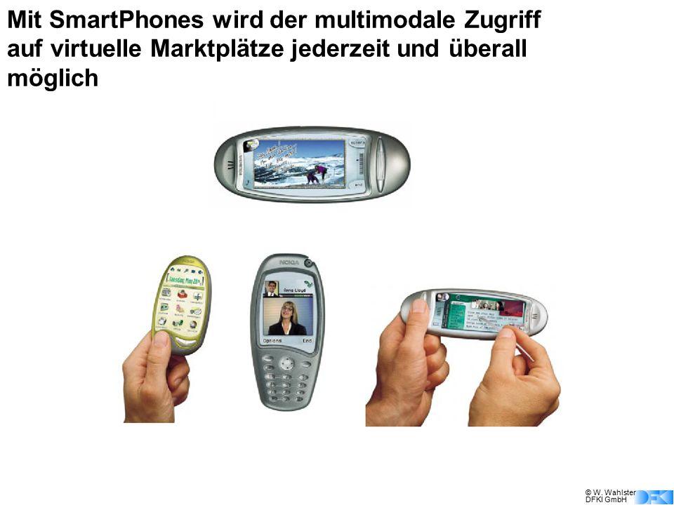 © W. Wahlster DFKI GmbH Mit SmartPhones wird der multimodale Zugriff auf virtuelle Marktplätze jederzeit und überall möglich