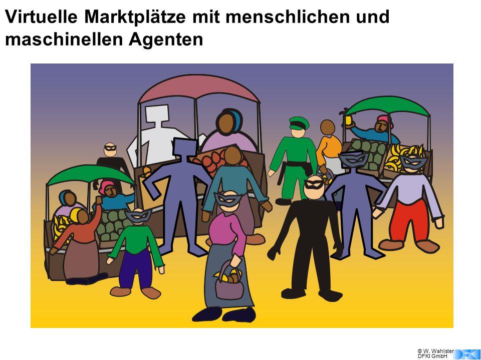 © W. Wahlster DFKI GmbH Virtuelle Marktplätze mit menschlichen und maschinellen Agenten