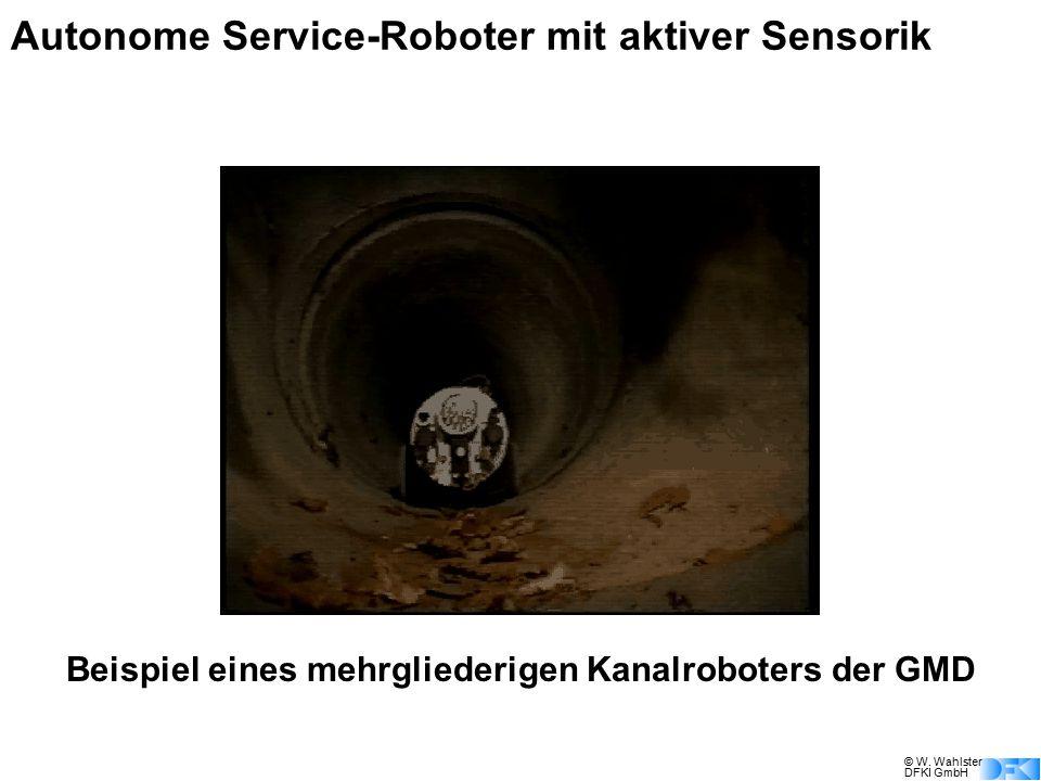 © W. Wahlster DFKI GmbH Autonome Service-Roboter mit aktiver Sensorik Beispiel eines mehrgliederigen Kanalroboters der GMD