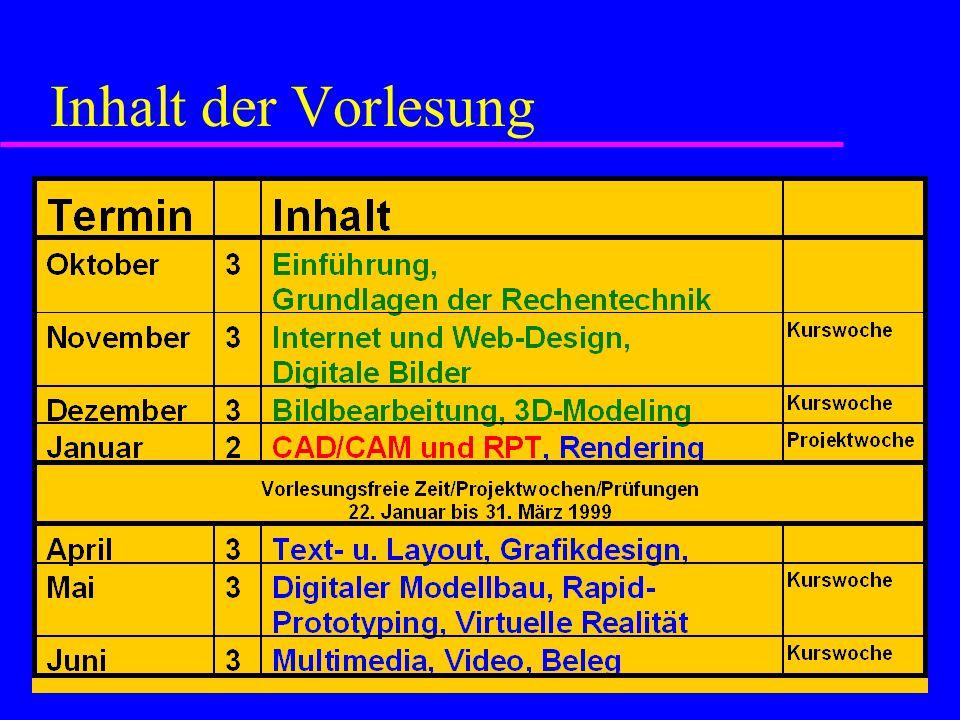 CAD/CAM und RPT 1.Warum CAD/CAM . 2. Was ist Rapid Prototyping .
