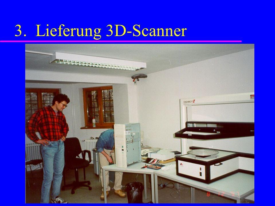 3. Lieferung 3D-Scanner