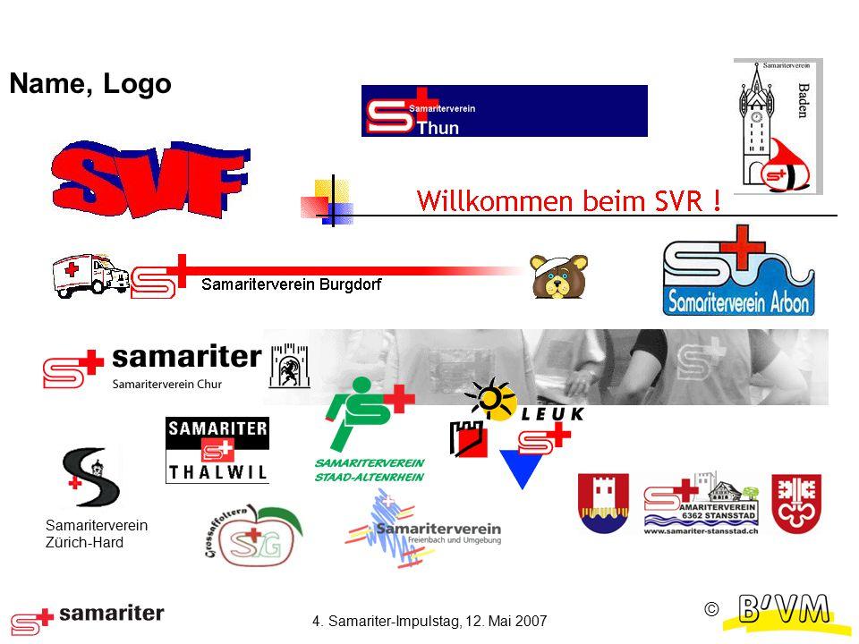Ⓒ 4. Samariter-Impulstag, 12. Mai 2007 Name, Logo Samariterverein Zürich-Hard