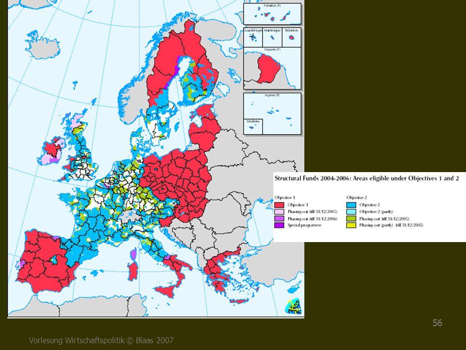 Vorlesung Wirtschaftspolitik © Blaas 2007 56
