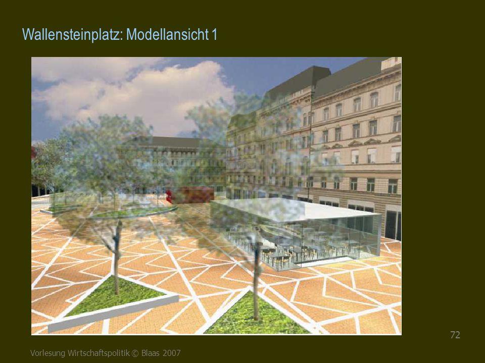 Vorlesung Wirtschaftspolitik © Blaas 2007 72 Wallensteinplatz: Modellansicht 1