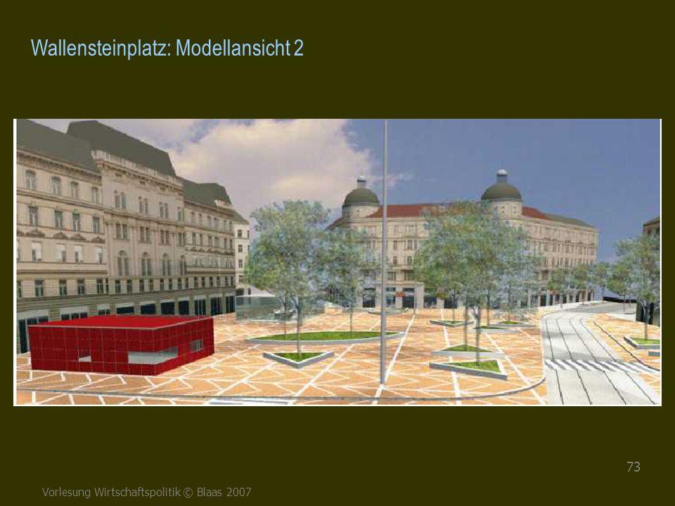 Vorlesung Wirtschaftspolitik © Blaas 2007 73 Wallensteinplatz: Modellansicht 2