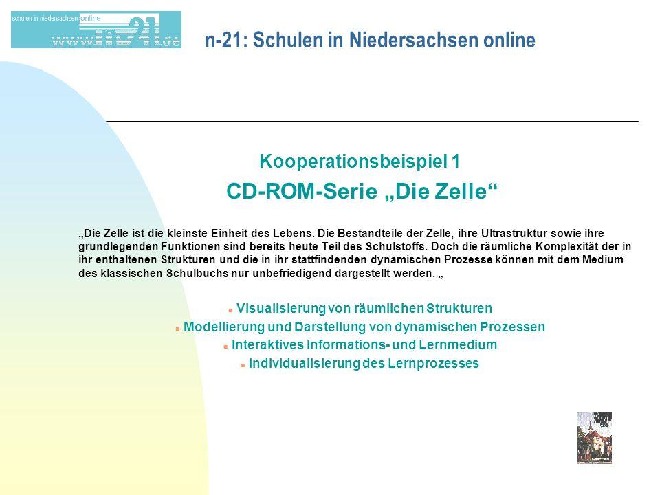 """n-21: Schulen in Niedersachsen online Kooperationsbeispiel 1 CD-ROM-Serie """"Die Zelle """"Die Zelle ist die kleinste Einheit des Lebens."""