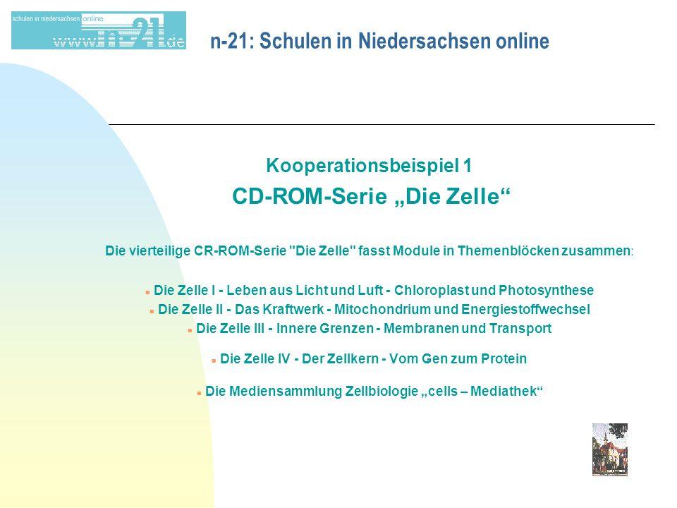 "n-21: Schulen in Niedersachsen online Kooperationsbeispiel 1 CD-ROM-Serie ""Die Zelle"" Die vierteilige CR-ROM-Serie"