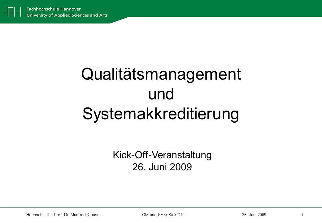 Hochschul-IT | Prof.Dr. Manfred Krause 1 26.