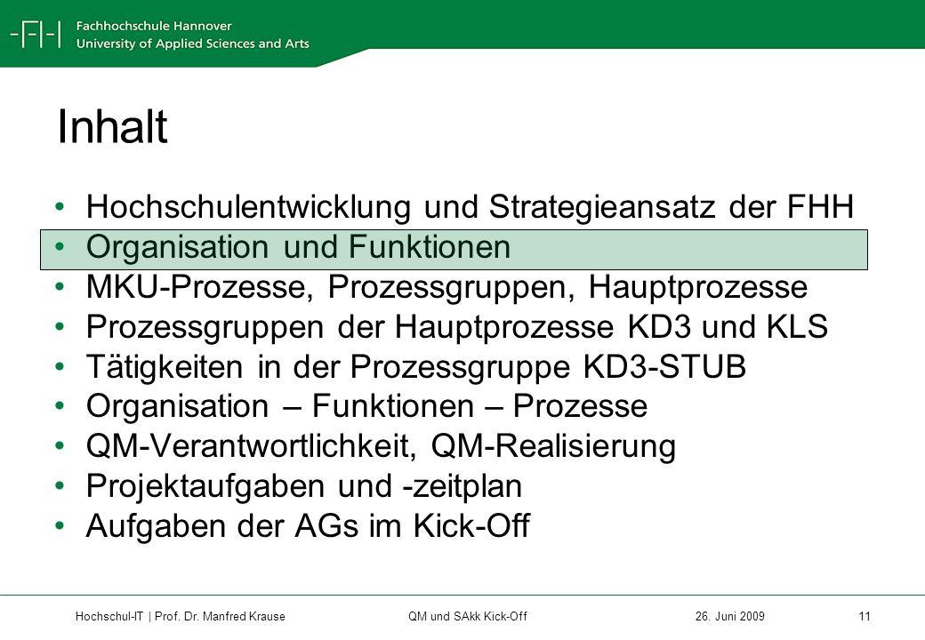Hochschul-IT | Prof.Dr. Manfred Krause 11 26.