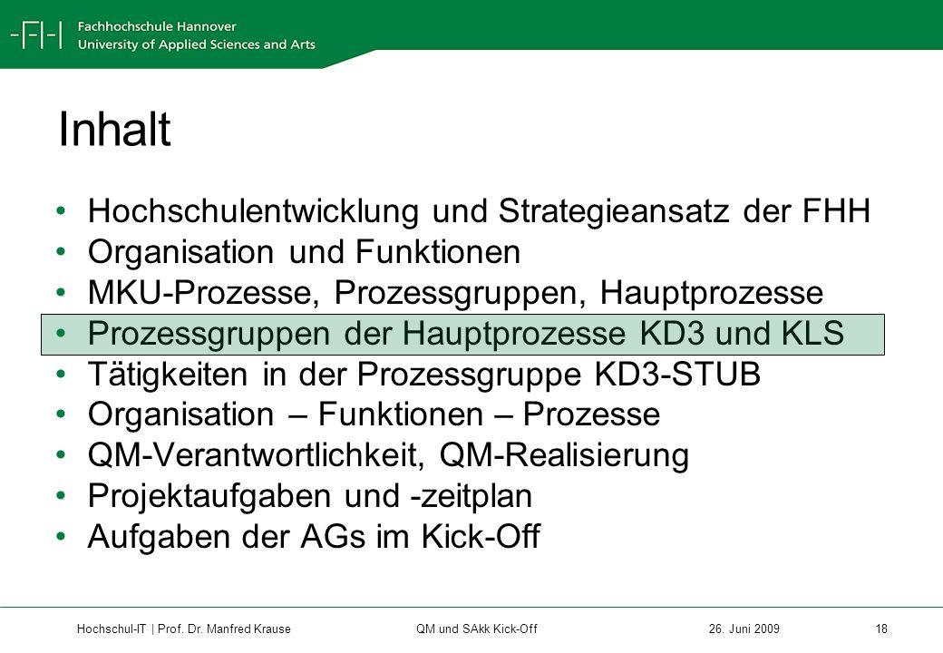 Hochschul-IT | Prof.Dr. Manfred Krause 18 26.
