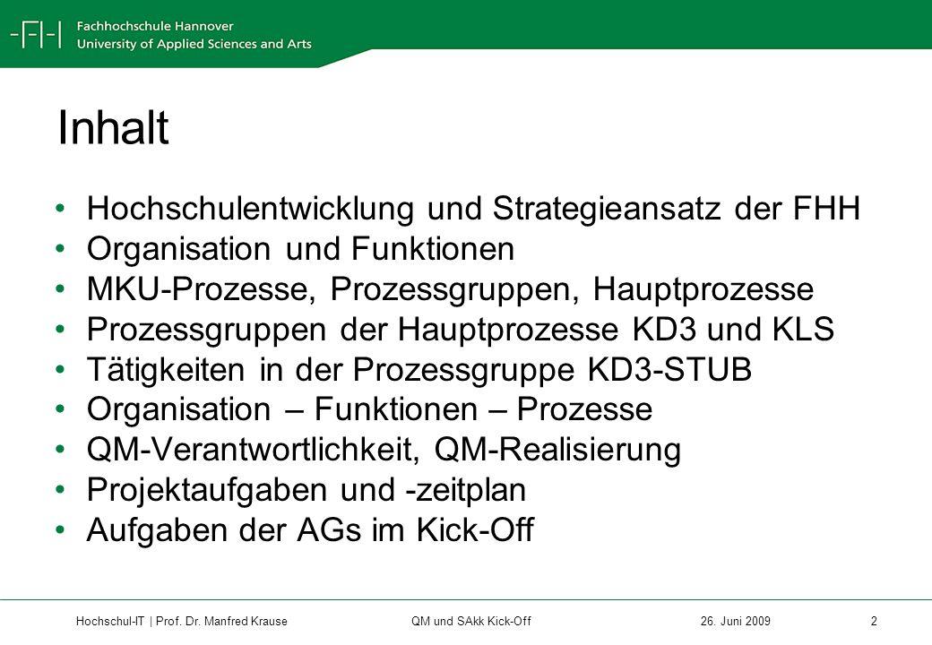 Hochschul-IT | Prof.Dr. Manfred Krause 3 26.