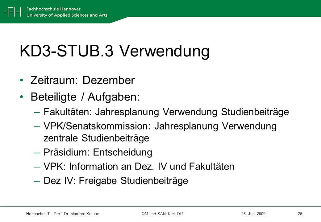 Hochschul-IT | Prof.Dr. Manfred Krause 26 26.