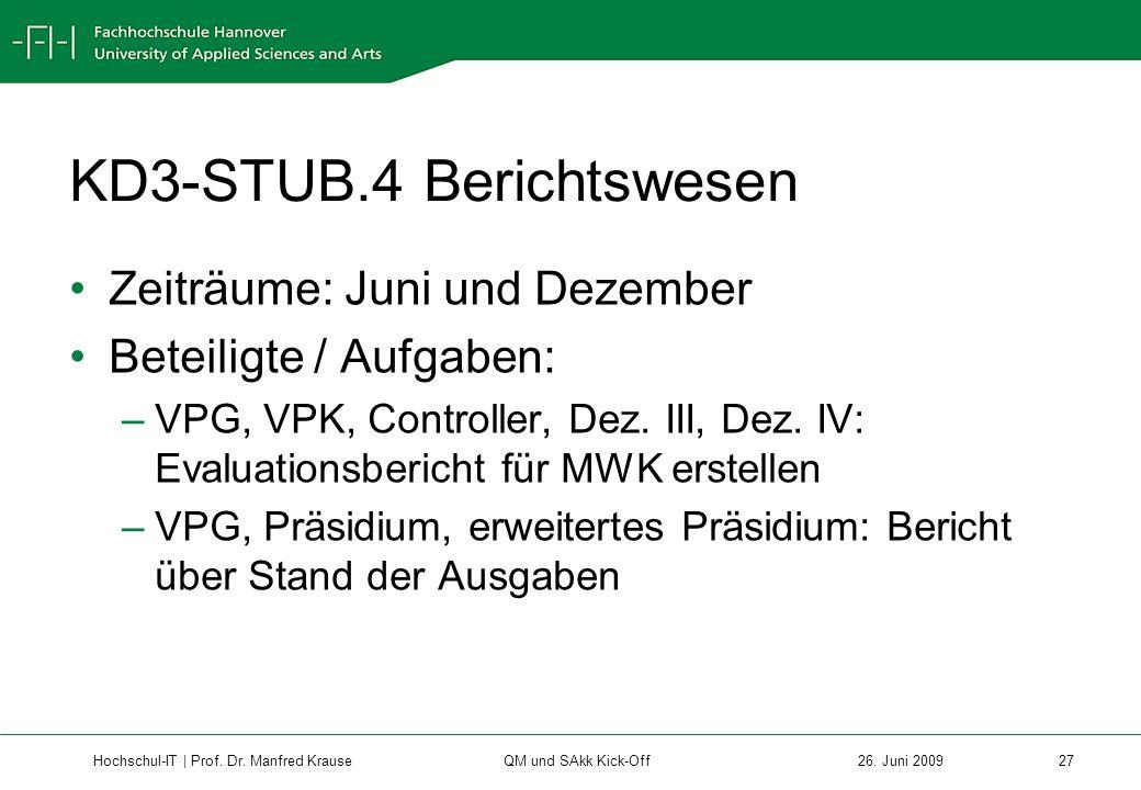 Hochschul-IT | Prof.Dr. Manfred Krause 27 26.