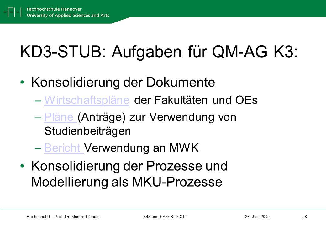 Hochschul-IT | Prof.Dr. Manfred Krause 28 26.