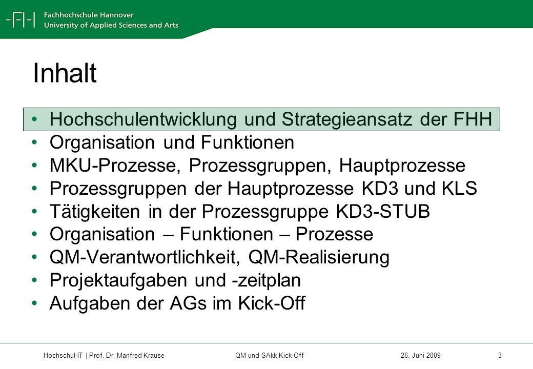 Hochschul-IT | Prof.Dr. Manfred Krause 14 26.