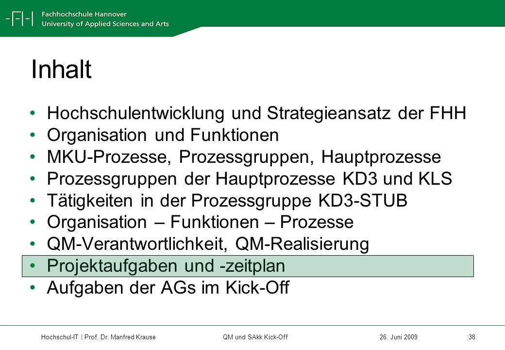 Hochschul-IT | Prof.Dr. Manfred Krause 38 26.