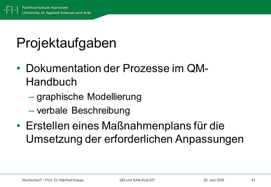 Hochschul-IT | Prof.Dr. Manfred Krause 41 26.