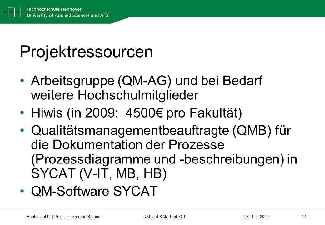 Hochschul-IT | Prof.Dr. Manfred Krause 42 26.