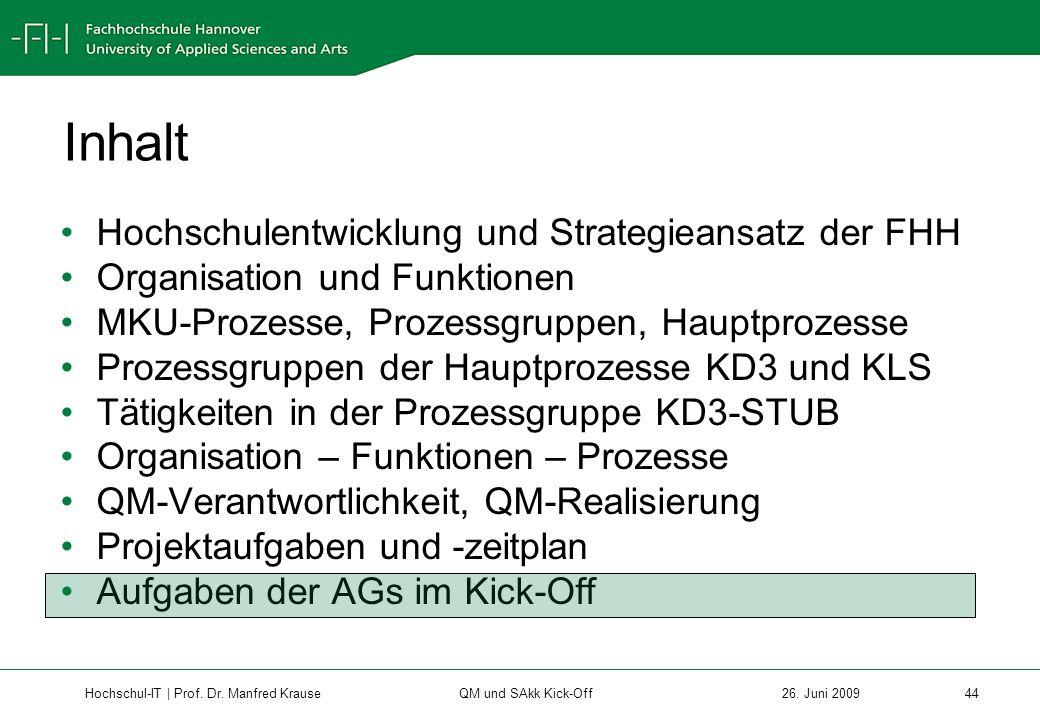 Hochschul-IT | Prof.Dr. Manfred Krause 44 26.