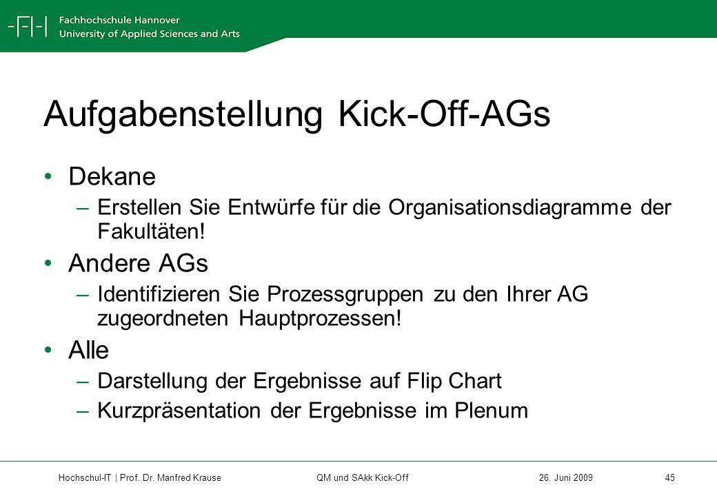 Hochschul-IT | Prof.Dr. Manfred Krause 45 26.