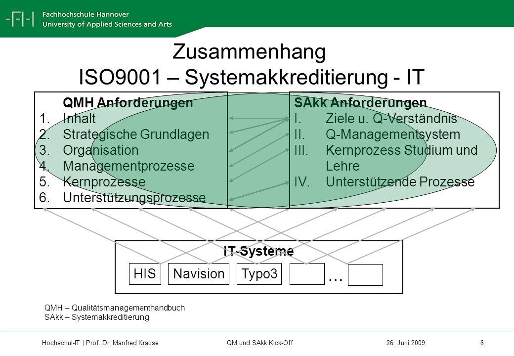 Hochschul-IT | Prof.Dr. Manfred Krause 7 26.