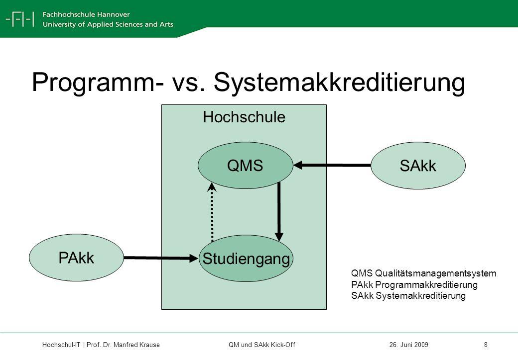 Hochschul-IT | Prof.Dr. Manfred Krause 9 26.