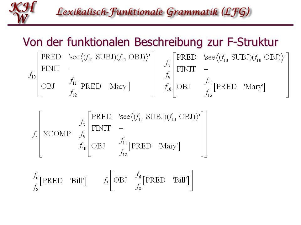 Von der funktionalen Beschreibung zur F-Struktur