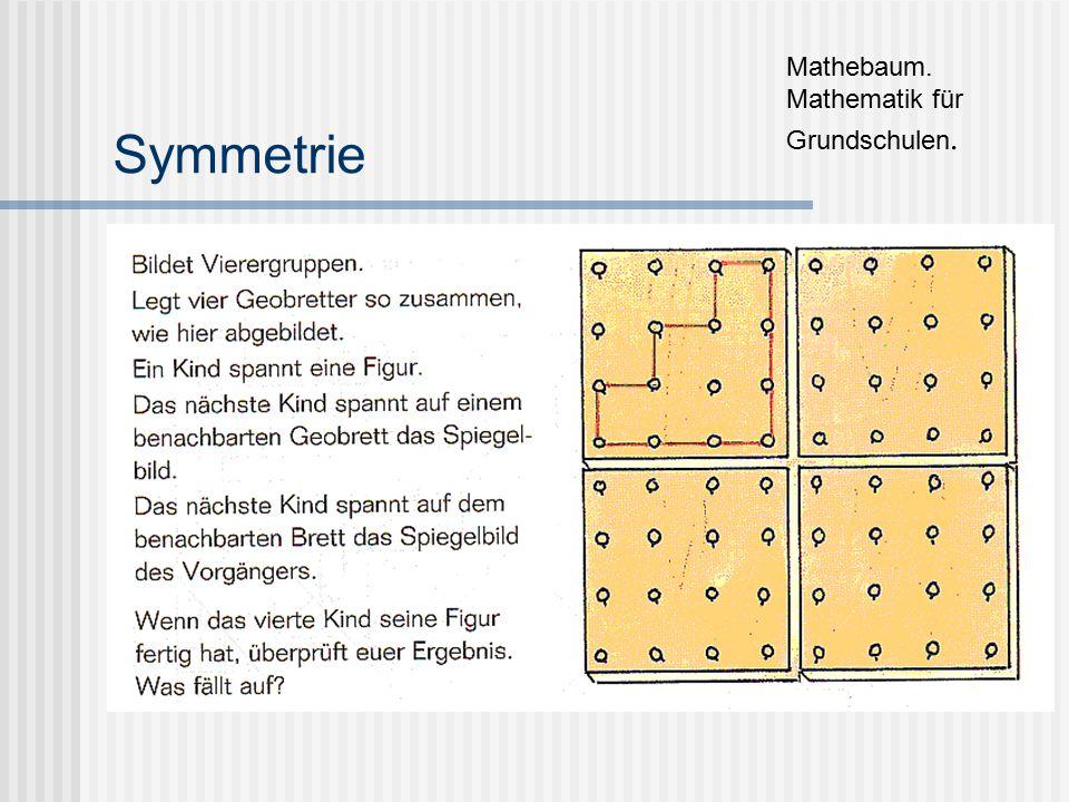 Symmetrie Mathebaum. Mathematik für Grundschulen.