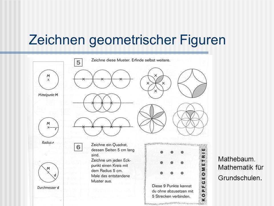 Zeichnen geometrischer Figuren Mathebaum. Mathematik für Grundschulen.