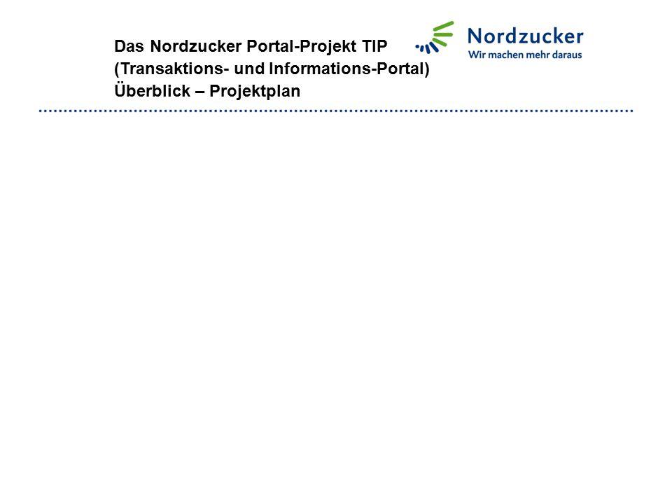 Das Nordzucker Portal-Projekt TIP (Transaktions- und Informations-Portal) Überblick – Projektplan