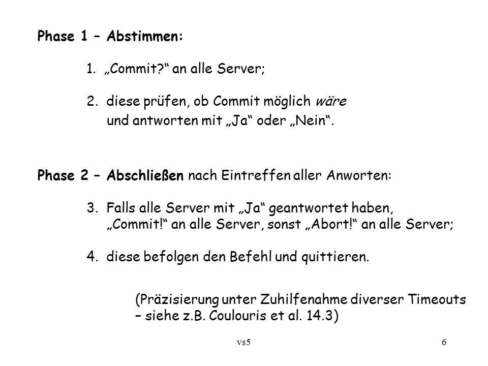 "vs56 Phase 1 – Abstimmen: 1. ""Commit an alle Server; 2."