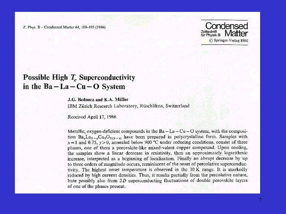 38 Supraleiter Typ II im äusseren Magnetfeld Flussliniengitter in einem Typ-II- Supraleiter.