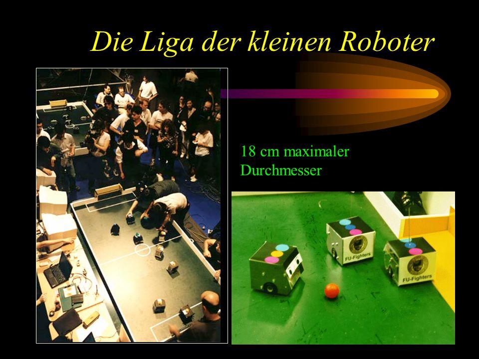 Die Liga der kleinen Roboter 18 cm maximaler Durchmesser