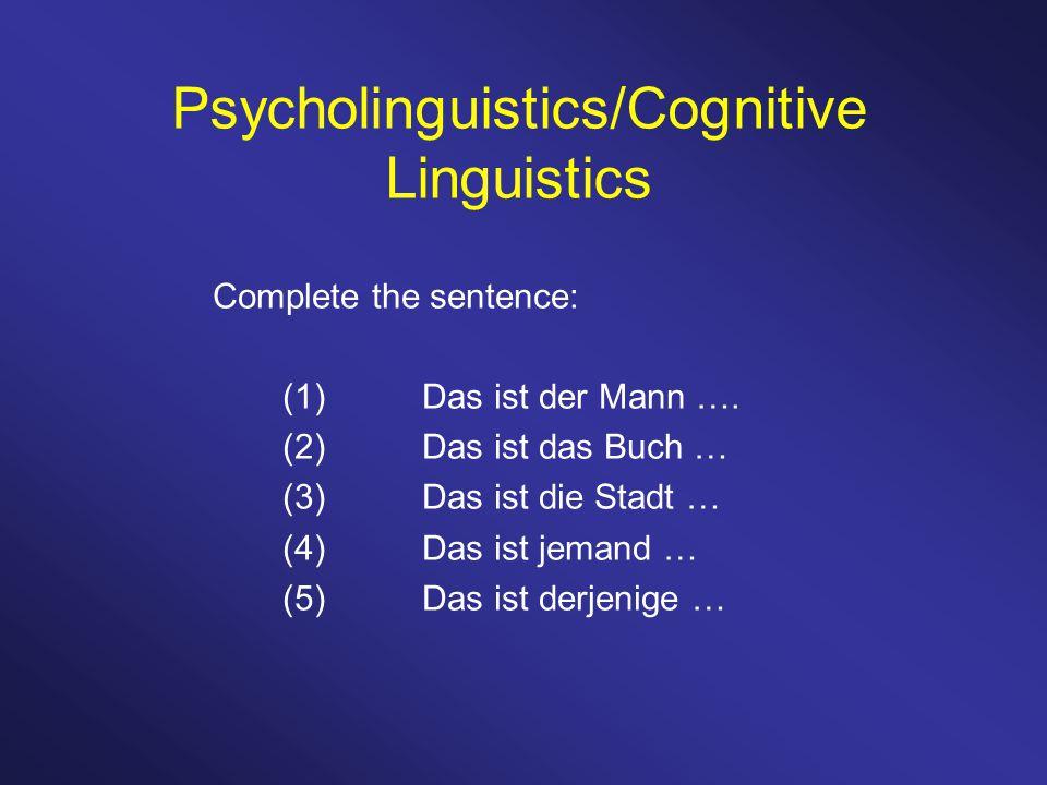 Complete the sentence: (1)Das ist der Mann ….
