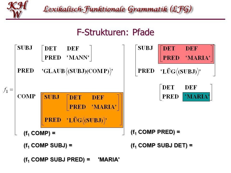 F-Strukturen: Pfade Durch welche Pfade werden die folgenden Werte selektiert? w: x: v1: w2: