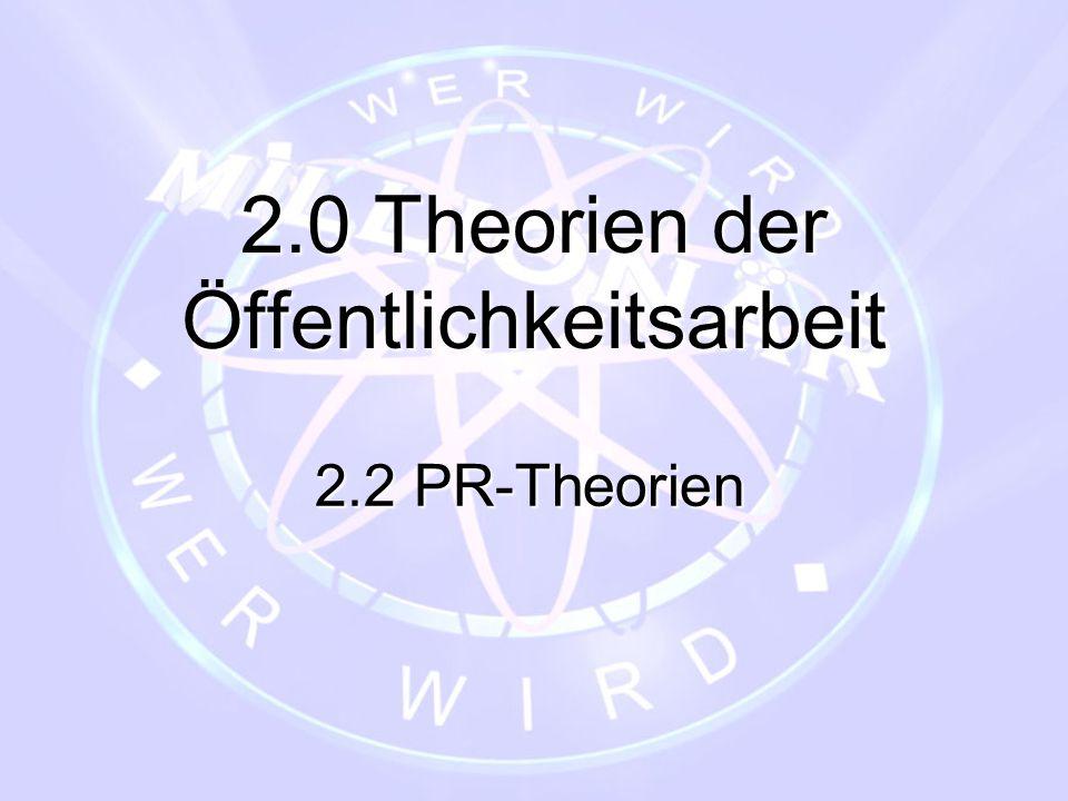 2.0 Theorien der Öffentlichkeitsarbeit 2.2 PR-Theorien