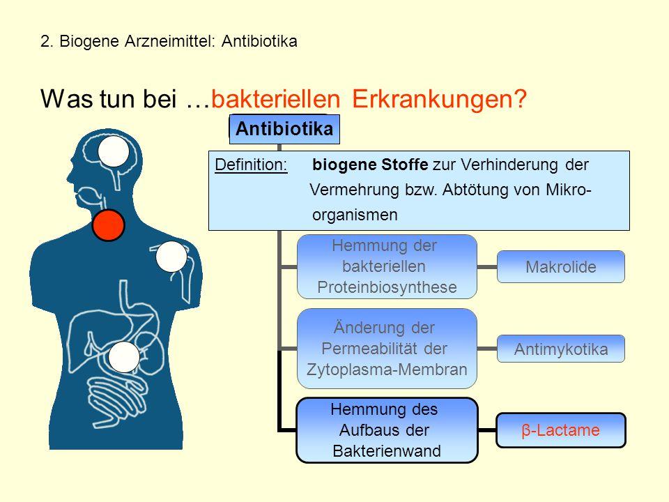 2.Biogene Arzneimittel: Antibiotika Was tun bei …bakteriellen Erkrankungen.