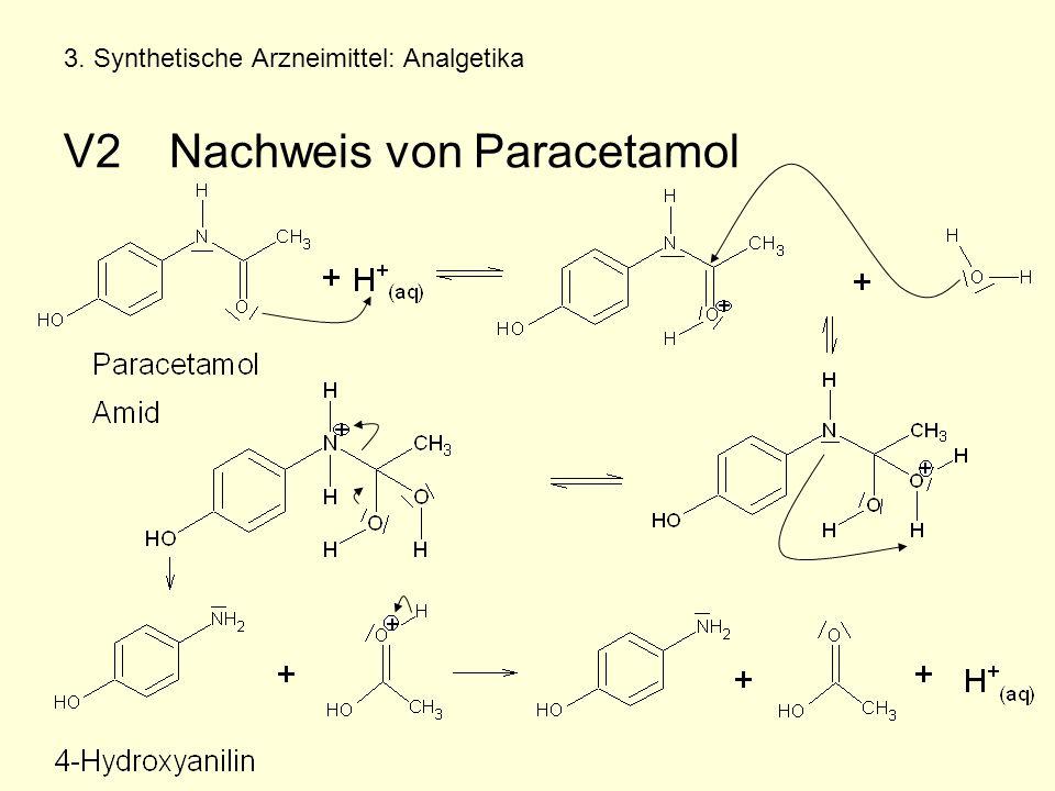 3. Synthetische Arzneimittel: Analgetika V2Nachweis von Paracetamol