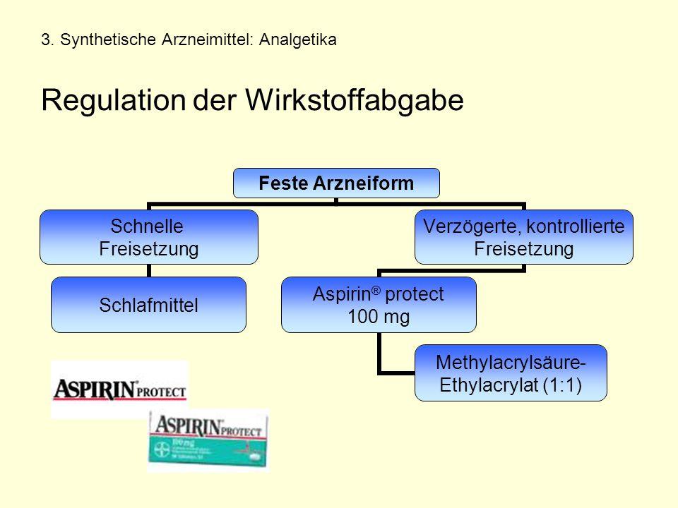 3. Synthetische Arzneimittel: Analgetika Regulation der Wirkstoffabgabe