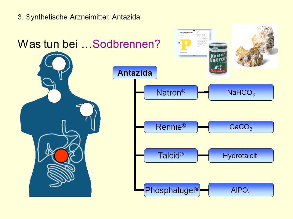 3. Synthetische Arzneimittel: Antazida Was tun bei …Sodbrennen?